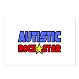 """Autistic Rock Star"" Postcards (Package of 8)"