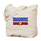 """Diabetic Rock Star"" Tote Bag"