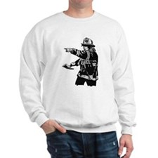 Abstract Fireman Jumper