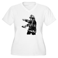 Abstract Fireman T-Shirt