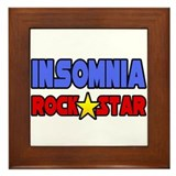 """Insomnia Rock Star"" Framed Tile"