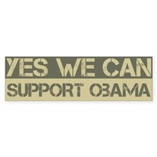 Yes We Can Support Barack Obama bumper Bumper Sticker