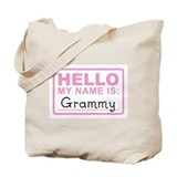 Grammy Nametag - Tote Bag
