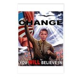 CHANGE YOU WILL BELIEVE IN Postcards (Package of 8