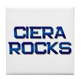 ciera rocks Tile Coaster