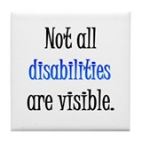 Not all disabilities are visi Tile Coaster