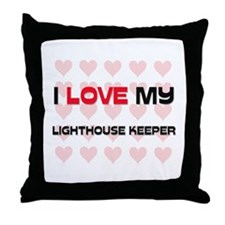 I Love My Lighthouse Keeper Throw Pillow