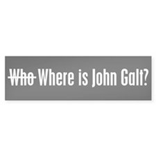 Who Where is John Galt Bumper Car Sticker
