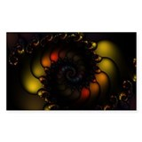 Dark Shell Fractal Rectangle Sticker 10 pk)