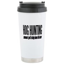 Hog Hunting Ceramic Travel Mug