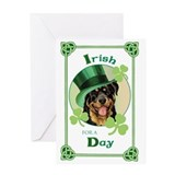 St. Patrick Rottweiler Greeting Card