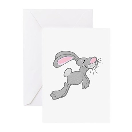 Hopping Easter Bunny Greeting Cards (Pk of 10)