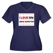 I Love My Legal Executive Women's Plus Size V-Neck