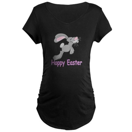Hoppy Easter Maternity Dark T-Shirt