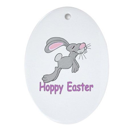 Hoppy Easter Oval Ornament