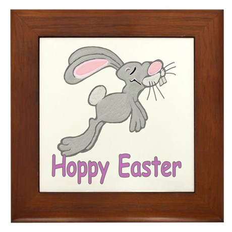 Hoppy Easter Framed Tile