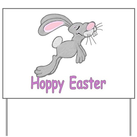Hoppy Easter Yard Sign