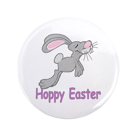"Hoppy Easter 3.5"" Button"