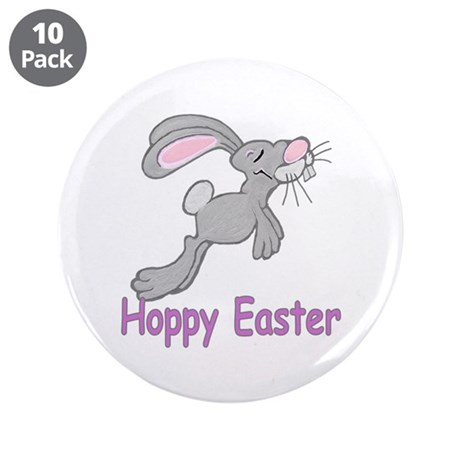 "Hoppy Easter 3.5"" Button (10 pack)"