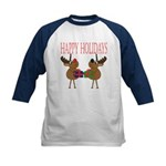 Christmas Reindeer Kids Baseball Jersey