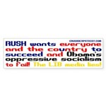 RUSH WANTS YOU TO SUCCEED! Bumper Sticker