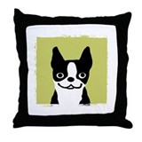 Boston Terrier Smile Throw Pillow
