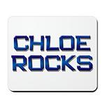 chloe rocks Mousepad