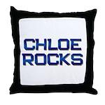 chloe rocks Throw Pillow