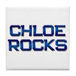 chloe rocks Tile Coaster