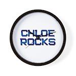 chloe rocks Wall Clock