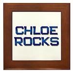 chloe rocks Framed Tile