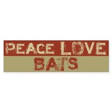 Peace Love Bats Bumper Bumper Sticker