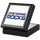 cheyanne rocks Keepsake Box