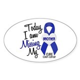 Missing My Brother 1 CC Oval Sticker (10 pk)
