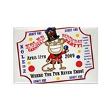 Kole's 2nd birthday carnival Rectangle Magnet (10