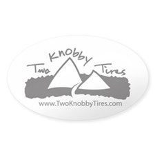 Two Knobby Tires Oval Bumper Decal