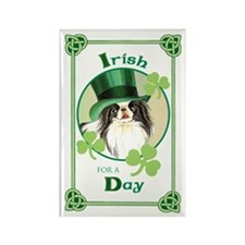 St. Patrick Japanese Chin Rectangle Magnet (10 pac