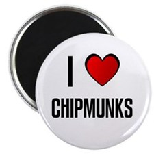 "I LOVE CHIPMUNKS 2.25"" Magnet (10 pack)"