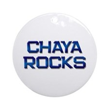 chaya rocks Ornament (Round)