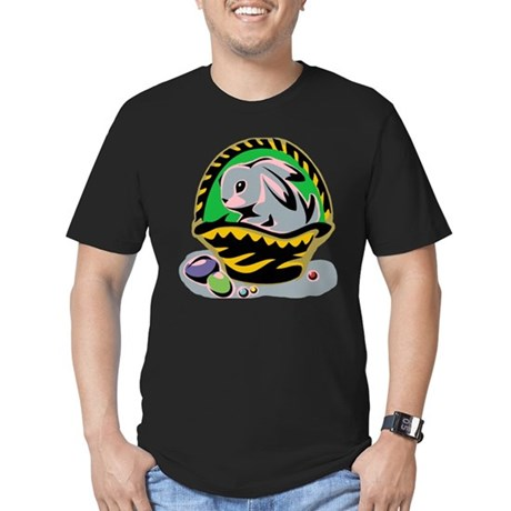 Easter Bunny Basket Men's Fitted T-Shirt (dark)