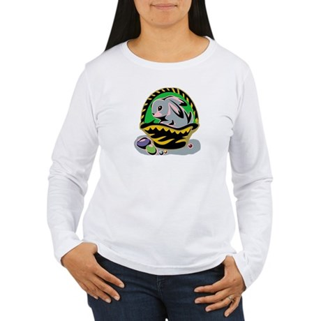 Easter Bunny Basket Women's Long Sleeve T-Shirt