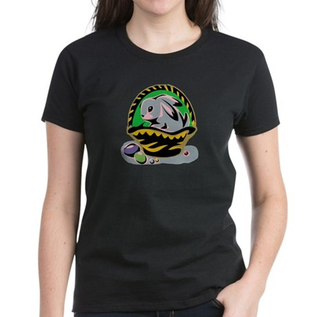 Easter Bunny Basket Women's Dark T-Shirt