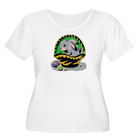 Easter Bunny Basket Women's Plus Size Scoop Neck T