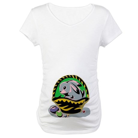 Easter Bunny Basket Maternity T-Shirt