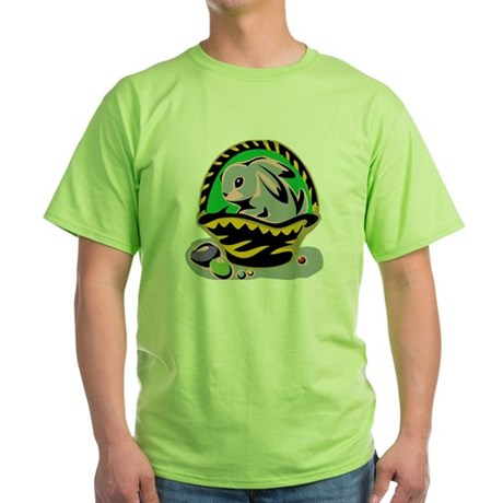 Easter Bunny Basket Green T-Shirt