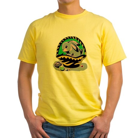 Easter Bunny Basket Yellow T-Shirt