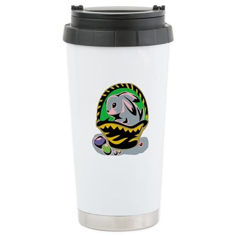 Easter Bunny Basket Ceramic Travel Mug