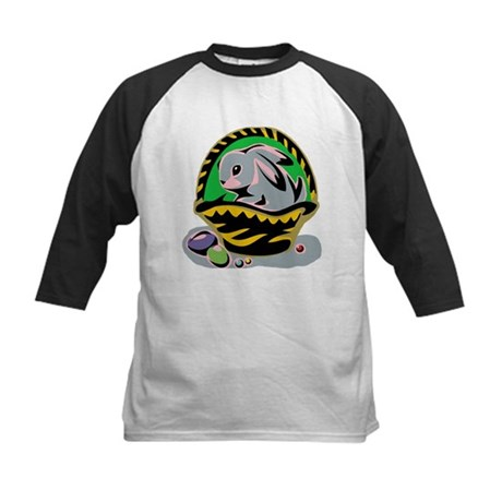 Easter Bunny Basket Kids Baseball Jersey