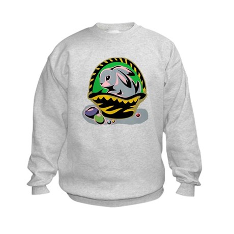 Easter Bunny Basket Kids Sweatshirt