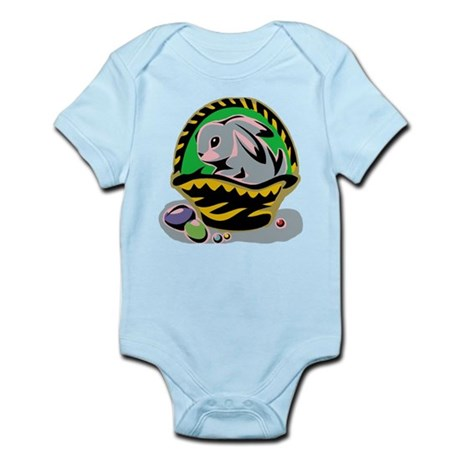 Easter Bunny Basket Infant Bodysuit